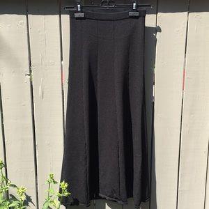 Sandro Black Fit&Flare Bandage Midi Skirt Size 1